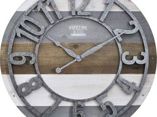 FirsTime   Co  Shabby Planks Wall Clock   Retail 97 99