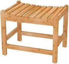 bamboo spa bathroom shower bench stool