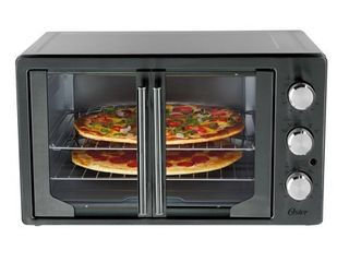Oster French Door Convection Toaster Oven  Metallic   Charcoal