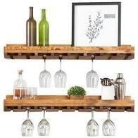 Handmade Del Hutson Designs Rustic luxe Stemware Shelf  36