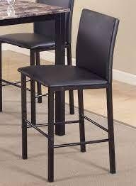 cities counter height metal frame 4 pk dining chairs black