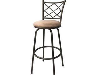 Halfy Counter to Bar Height Adjustable 360 Degree Swivel Bar Stool 1 only brown