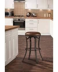 Copper Grove Gerbera Swivel Backless Black Counter Stool 1 only  17 W x 17 l x 26 H  Retail 97 49