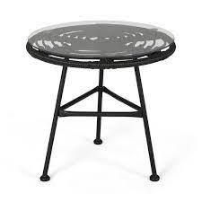 la Habra boho patio table gray