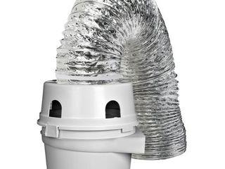 Dundas Jafine TDIDVKZW ProFlex Indoor Dryer Vent Kit with 4 Inch by 5 Foot ProFlex Duct