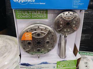 Oxygenics Pure Shower Genius Drench Brushed Nickel