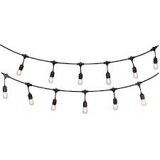 Portfolio 24 ft 12 light Plug in Bulbs String lights