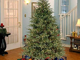 National Tree Company  Feel Real  Pre lit Artificial Christmas Tree   Includes Pre strung White lights   Frasier Grande Tree   7 5 ft