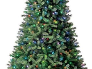 Evergreen Classics 7 5 Feet Pre lit Washington Spruce Artificial Christmas Tree