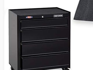 Craftsman Tool Chest With Drawer liner Roll  26 inch  4 Drawer Black Cmst82765bk