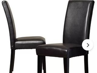 4  Dining Table Chairs  Faux leather  Metal