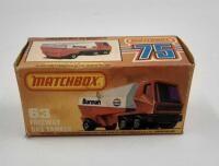 Matchbox 75  63 Freeway Gas Tanker  Exxon  original box