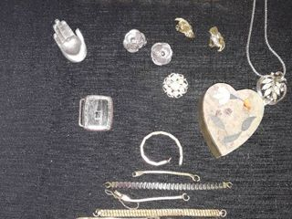 Jewelry lots  Small lot but has a few watch band extras plus a Trinket Box