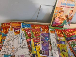Highlights magazines 12 total  little Women coloring book