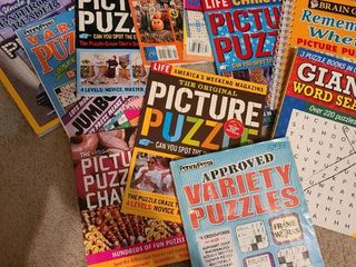 Assorted puzzle books   11 total