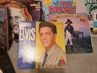Variety of record albums  including Elvis boxed set