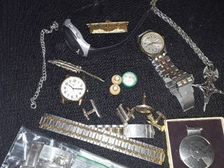 Jewelry lots  Mens Jewelry Watches  Perpetual Calendar  Cuff links and other Miscellaneous Items