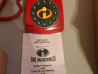 The Incredibles red corded telephone