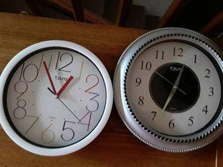 2 Tzumi Wall Clocks