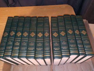 Harvard Classics Collectors Edition Hard Cover Novels lot of 12
