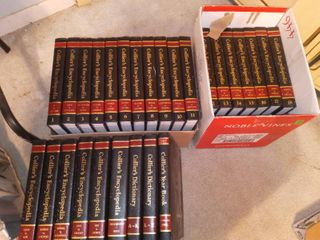 Colliers Encyclopedia Set with Colliers Dictionary and Yearbook 1986 1987
