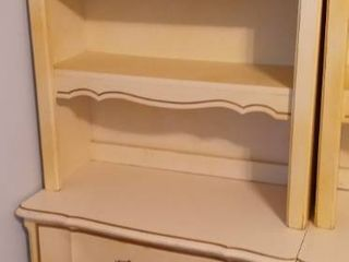 Vintage Dixie Furniture Company French Provincial Style Chest of 3 Drawers with Hutch Top 73 x 31 x 18 in  Structurally Sound Furniture Needs Cosmetic Work