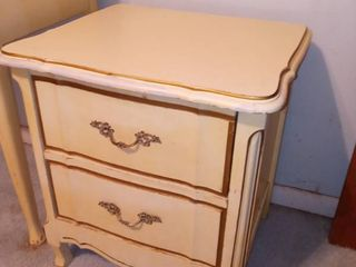 Vintage Dixie Furniture Company French Provincial Style Night Table 23 x 22 x 18 in  Structurally Sound Furniture Needs Cosmetic Work