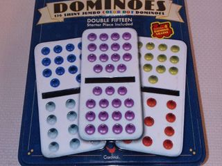 Collectors Double Fifteen Dominoes Set with Tin Case