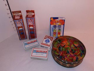 lite Bright Pegs with Poker Chips Dice and Playing Cards