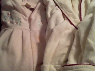 Womens Robes  Pink is 3X and White is Xl  The pink one has a few spots