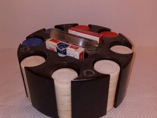 Rotating Poker Chip and Card Carrier