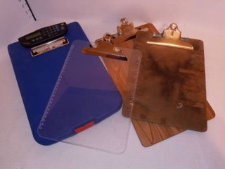 Dexas Storage Clipboard with Built In Calculator and 3 Other Clipboards