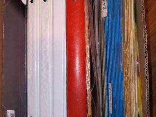 Assorted File Folders Binders and Dividers