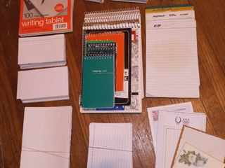 Steno Pad Notebooks of Various Binding with Assorted Notecards and Sticky Notes
