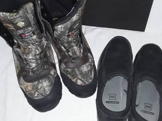 Mens Shoes and Hunting Boots  Both Size 14