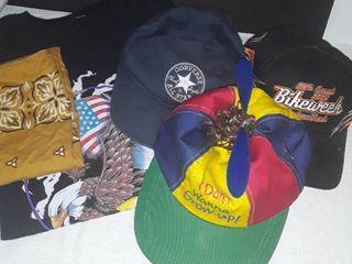 Mens T Shirt  Xl  3 Hats   Converse  Daytona Beach Bike Week  and Bandana