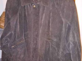 Mens Suede leather Coat Size