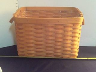 Extra large longaberger Basket  With plastic insert and divider