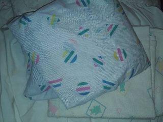 Crib Sheet  Receiving Blanket  and Bassinet Skirting