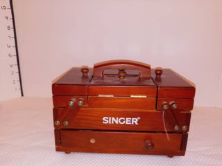 Small Singer Sewing Box with Contents