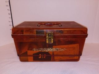 Plastic Sewing Box with Contents