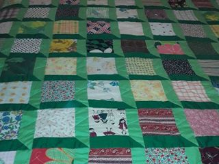 Green Quilt  FUN  Sized  72 x 82