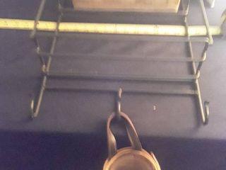 longaberger Basket and Metal Shelf