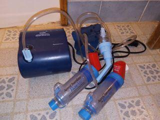 Philips Respironics Breathing Machine with Aero Chamber Flow Vus