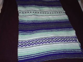 Maroon Wool Blanket and a Saddle Blanket