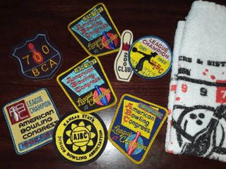 Bowling Towel and Vintage Patches