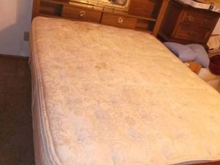 Queen Sized Bed with Headboard   Headboard size is 58 x 63 x 8 5