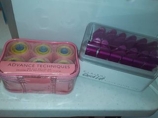 No Clip Roller Set  and Clairol Quick lift   Heated Styling Clips