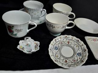 Homer laughlin  Spode  Imperial Semi China and Enesco China  lot of Miscellaneous Tea Cups and Saucers