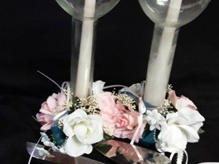 Wedding Candles and Cake Knife and Cake Serve  They can be redone to match your wedding colors